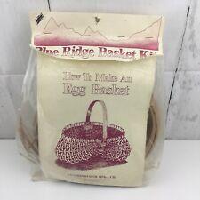 Vintage Blue Ridge Basket Kits Egg Basket Commonwealth MFG Basketry
