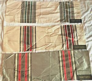 "VILLA ROMO Renhurst Stripe 3 Pieces 8 1/4 x 26"" Silk Fabric Samples"