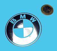 BMW METALLIC CHROME EFFECT STICKER LOGO AUFKLEBER 60mm [762]