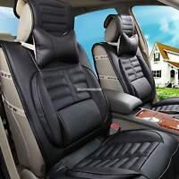 2 PCS Car Seat Head Neck Rest Cushion Headrest Leather Pillow Confortable EN24H