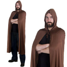 ADULT BROWN HOODED CAPE BOOK WEEK FILM CHARACTER FANCY DRESS COSTUME ACCESSORY
