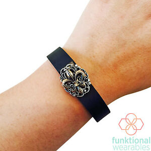 VINTAGE FLEUR DE LIS Charm to Enhance Fitbit and Other Fitness Activity Trackers