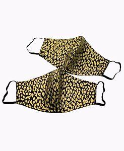 Gold Leopard Fashion Face Mask