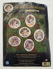 Dimensions Gold Collection Kitty Keepsake Ornament Kit 8730 Cat Cross Stitch New
