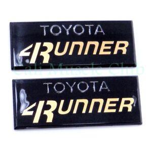 84 85 86 87 88 89 Toyota 4Runner Pillar Cab Emblem Gold Badge Side Badge 4WD SR5