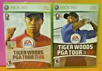 Tiger Woods Golf 07 + 08 - XBOX 360 Games Lot Tested Working