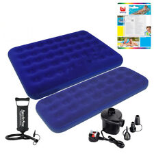 INFLATABLE SINGLE DOUBLE FLOCKED AIR BED CAMPING AIRBED MATTRESS PUMP REPAIR KIT