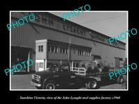 OLD LARGE HISTORIC PHOTO OF SUNSHINE VICTORIA THE LYSAGHT ROOFING FACTORY c1960