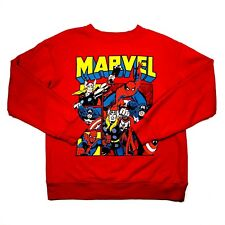 Forever 21 Marvel Comics Womens S Sweatshirt Pullover Top Long Sleeve Red Small