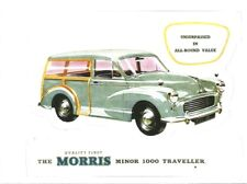 MORRIS MINOR TRAVELLER AUTOMOBILE Sticker Decal