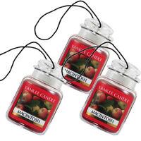 Yankee Candle Car Jar Ultimate Odor Neutralizing Air Freshener, Macintosh 3-Pack