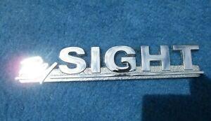 Vintage Original Metal Dealer Nameplate  BY SIGHT