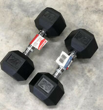 20 lb Dumbbells Weider Rubber Coated Hex Pair Set - 40 Lbs Total FAST SHIPPING