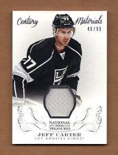 2013/14 National Treasures JEFF CARTER Game Jersey 48/99 Century Materials Kings