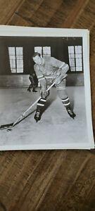 1950-51 NEW YORK RANGERS TEAM ISSUE 8X10 B/W PHOTO PENTTI LUND BRUINS FINLAND
