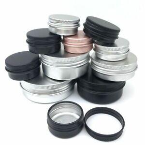 Small Tin Empty Jar Cream Cosmetic Lip Balm Container Storage Craft Case 10pcs