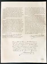 1926 - Lithographie citation M. George W. Wickersham, Colonel H. H. Harjes.