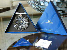 Rare 2011 Swarovski Crystal Snowflake Christmas 20 Year Edition Ornament! Nib!