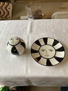 Brian Wood Ginger Jar And Plate