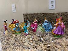 Disney Store Lot Of 10 Figures Cake Topper PRINCESS Sparkle PVC