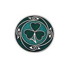 Enamel Green Shamrock Scarf Pin / Brooch