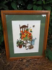 "Needle Point Professionally Matted & Framed 16"" x 20""  Collectible Vintage"
