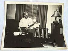 Mid Century Photo 1940's Living Room Jack Landrum 8 x 10 Radiator Newspaper
