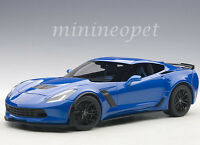 AUTOart 71265 CHEVROLET CORVETTE C7 Z06 1/18 MODEL CAR LAGUNA BLUE