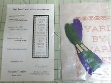 "Vintage Jane Snead Sampler Kit-Inch By Inch #347- 6"" x 17"" W/Floss"