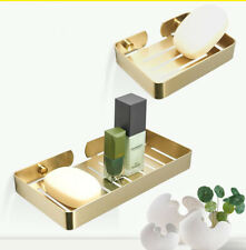 Gold Soap Dish Holder Home Decoration Accessories Stainless Steel Brushed Gold
