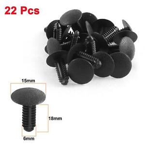 22 Pcs Black Plastic Push-Type Fastener Auto clips for Ford