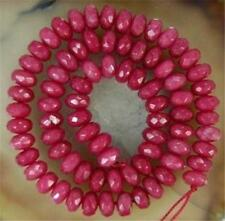 Beautiful natural Strands 5x8mm Brazilian Ruby Loose Bead 15""