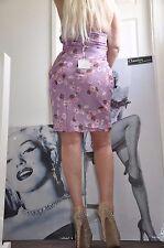 "PARTY Pale lilac  multicolor  MINI  DRESS ""SOFIABALESTRA"" 100% SILK EU 42  S"