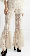 Anthropologie ANNA SUI Guipure Lace Flare Pant Size Small Bohemian