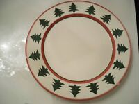 """"""" PIER 1""""  SERVING PLATTER PLATE ROUND CHRISTMAS TREE DESIGN  ITALY  11 3/4''"""