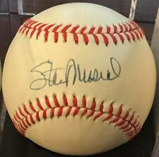 Stan Musial (HOF) St Louis signed Rawlings Official N/L CLEAN Bball PSA/DNA COA