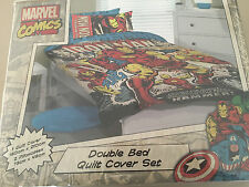 MARVEL COMICS IRON MAN DOUBLE bed QUILT DOONA COVER SET NEW