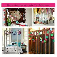 Round Paper Rainbow Garland Assorted Colors Circle Dots Hanging Decor CO