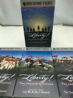 PBS Liberty! The American Revolution VHS Tapes Documentary Box Set US History