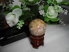 45MM CRAZY LACE AGATE Gemstone Sphere Crystal Ball FREE STAND