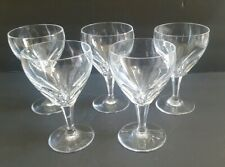 Set Of 5 Clear Glass Stemware Water Iced Tea Wine Goblets Nice