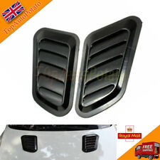 Car ABS Decorative Air Flow Intake Scoop Turbo Bonnet Vent Cover Black Hood Set