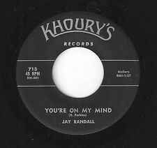 ♫JAY RANDALL You're On My Mind/Never Have I Khoury's 713 R&B NOLA SOUL 45RPM♫