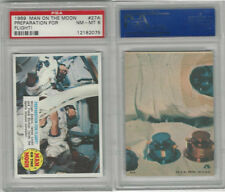 1969 Topps, Man On The Moon, #27A Preparation For Flight, PSA 8 NMMT