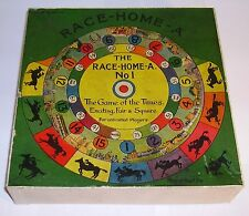 old Gramophone  Phonograph tin toy horse race game Race-Home-A No.1  boxed