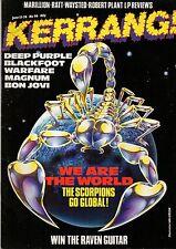 Kerrang Magazine 1985  No: 96    Scorpions   Deep Purple   Magnum   Jon Bon Jovi