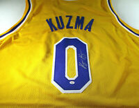 KYLE KUZMA / AUTOGRAPHED LOS ANGELES LAKERS CUSTOM BASKETBALL JERSEY / COA