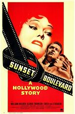 SUNSET BOULEVARD Movie Promo POSTER Gloria Swanson William Holden