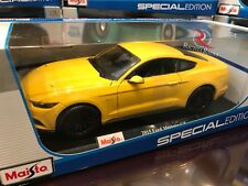 Maisto 1:18 Scale Special Edition Diecast Model - 2015 Ford Mustang GT (Yellow)