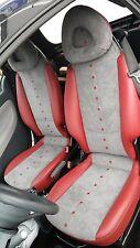 Smart Asiento de cuero real negro (colores o bicolor moegl auténtico Cuero coche
